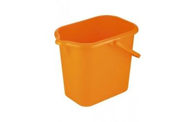 Ведро пластмассовое прямоугольное 16 л, оранжевое, Россия. ТМ Elfe
