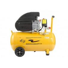 Компрессор масляный PC 1/50-206, коаксиальный производительность 206 л/м, мощность 1,5 кВт. DENZEL
