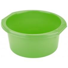Таз пластмассовый круглый 7л, зеленый, Россия. ТМ Elfe