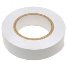 Изолента ПВХ, 19 мм х 20 м, белая. СИБРТЕХ