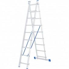 Лестница, 2 х 9 ступеней, алюминиевая, двухсекционная, Россия, Сибртех