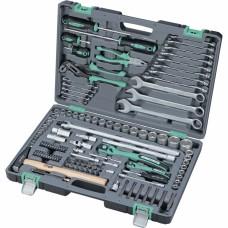 Набор инструмента, 1/4, 1/2, Cr-V, S2, усиленный кейс, 119 предметов. STELS