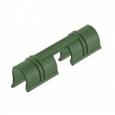 Универсальные зажимы для крепления к каркасу парника D 12 мм, 20 шт в упаковке, зеленые. PALISAD