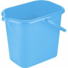 Ведро пластмассовое прямоугольное 16 л, голубое ligHt, Россия. Elfe