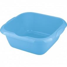 Таз пластмассовый квадратный 12 л, голубой, Россия. Elfe