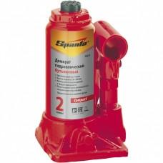 Домкрат гидравлический бутылочный 16 т, H подъема 205-400 мм. SPARTA Compact