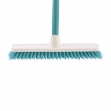 """Щетка пластмассовая """"SHROBER"""" для чистки ковров 270 мм, бирюз, c черенком, 120 см, D 22 мм. Elfe"""