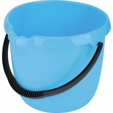 Ведро пластмассовое круглое 12 л, голубое. Elfe