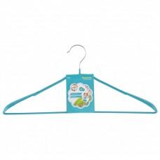 Вешалка метал для верхней одежды с прорезиненным противоскользящим покрытием 45 см, бирюзовая. Elfe