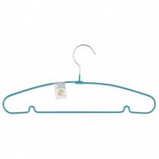 Вешалка для легкой одежды с прорезиненным противоскользящим покрытием 40 см, бирюзовая. Elfe