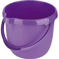 Ведро пластмассовое круглое 12 л, фиолетовое. Elfe