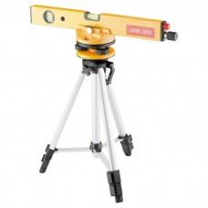 Уровень лазерный, 400 мм, 1050 мм штатив 3 глазка, набор (база, 2.линзы) пластиковый бокс. MATRIX