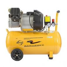 Компрессор масляный PC 2/50-370, коаксиальный, 2 цил, производительность 370 л/м, мощность 2,2 кВт. DENZEL