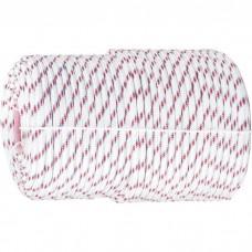 Фал плетёный полипропиленовый с сердечником, 16-прядный, 8 мм, бухта 100 м, 520 кгс, Россия. СИБРТЕХ