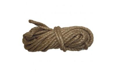 Веревка джутовая, L 10 м, крученая, D 8 мм, Россия. СИБРТЕХ