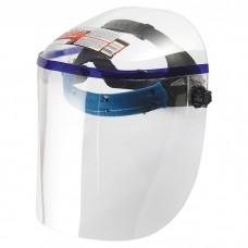 Щиток защитный, 425 х 220 мм, пластик, защита для лица, цельный корпус. MATRIX