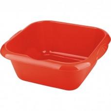 Таз пластмассовый квадратный 18 л, красный, Россия. Elfe
