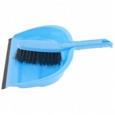Набор: совок с кромкой 330 х 235 мм. и щетка- сметка 290 мм, голубой. Elfe