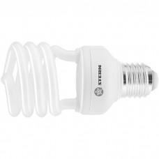 Лампа компактная люминесцентная, полуспиральная, 20 W, 2700K, E27, 8000ч. STERN