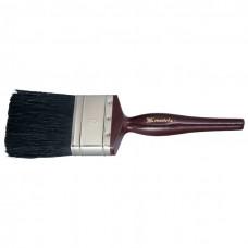 """Кисть плоская """"Декор"""" 1,5"""", натуральная черная щетина, деревянная ручка. MATRIX"""