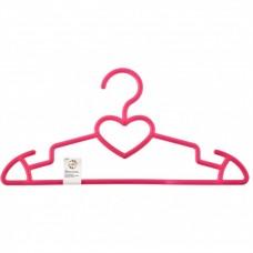 Вешалка пластиковая для верхней одежды 41 см, цветная, сердечко. Elfe