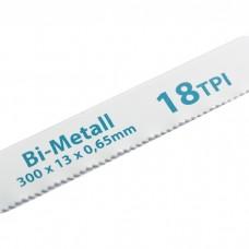 Полотна для ножовки по металлу, 300 мм, 18 TPI, BIM, 2 шт, GROSS