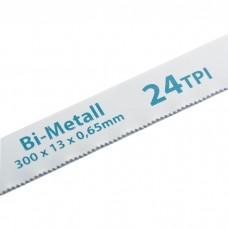Полотна для ножовки по металлу, 300 мм, 24 TPI, BIM, 2 шт, GROSS