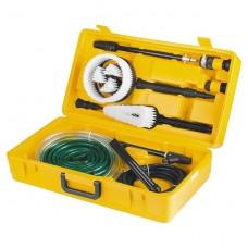 Набор аксессуаров для моек высокого давления (щетки, насадки, коннекторы, шланги). DENZEL