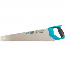 "Ножовка по дереву ""PIRANHA"", 500 мм, 7-8 TPI, зуб-3D, каленый зуб, двухкомпонентная рукоятка. GROSS"
