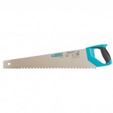 """Ножовка по дереву """"PIRANHA"""", 550 мм, сегментное строение рабочей кромки, 7-8 TPI, зуб-3D, двухкомпонентная рукоятка. GROSS"""