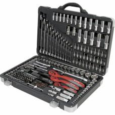 Набор инструмента, 1/4, 3/8, 1/2, Cr-V, S2, усиленный кейс, 216 предметов. MATRIX PROFESSIONAL
