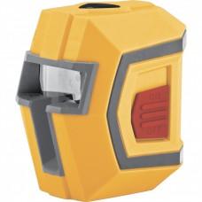 Уровень лазерный LX1, 10 м ± 0,5 мм/1 м, 635 нм, 1 вертикальная, 1 горизонтальная плоскости, резьба 1/4. DENZEL