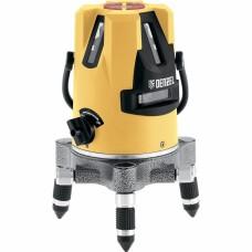"""Уровень лазерный LX3, 10 м, ± 0,3 мм/1 м, 635 нм, 4 вертикальных, 1 горизонтальная плоскости, резьба 5/8"""". DENZEL"""