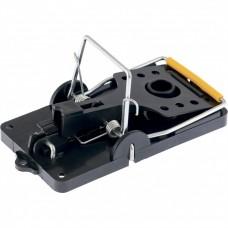 Мышеловка-крысоловка пластиковая открытая, металлический механизм, большая, 140 х 75 мм. СИБРТЕХ