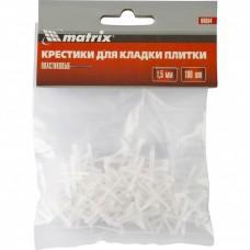Крестики, 1,5 мм, для кладки плитки, упаковка 100 шт. MATRIX
