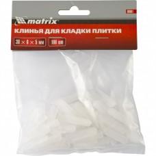 Клинья для кладки плитки 30 х 6 х 5 мм упаковка 100 шт. MATRIX