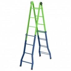 Лестница - стремянка-трансформер, 121 см-44 см/194 см-394 см, Россия, Сибртех