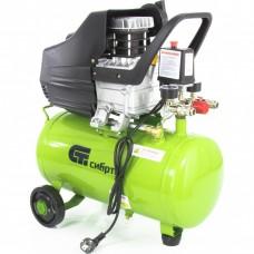 Компрессор воздушный КК-1500/24, 1,5 кВт, 198 л/мин, 24 л, прямой привод, масляный. СИБРТЕХ