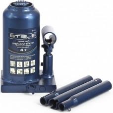 Домкрат гидравлический бутылочный телескопический, 4 т, H подъема 170-420 мм. STELS