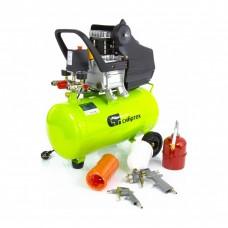 Компрессор с набором КК-1500/24 ПЛЮС, 1,5 кВт, 198 л/мин, 24 л, прямой привод, масляный. СИБРТЕХ