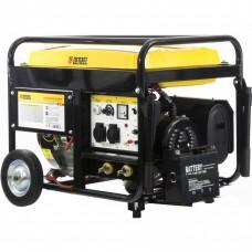 Бензиновая сварочная генераторная установка WG 210Е, 5,0 кВт, 220 В, бак 25 л, электростартер DENZEL