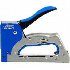 Степлер металлический, 3 в 1, регулятор удара, двухкомпонентная рукоятка, тип скобы: 53, 300, 500, 6-14 мм. БАРС