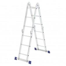 Лестница шарнирная алюминиевая, 4 х 3 ступени, Россия, Сибртех