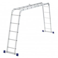 Лестница шарнирная алюминиевая, 2 х 4 + 2 х 5, Россия, Сибртех
