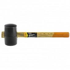 Киянка резиновая, 450 г, черная резина, деревянная рукоятка. SPARTA