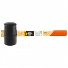 Киянка резиновая, 340 г, черная резина, деревянная рукоятка. SPARTA