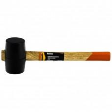 Киянка резиновая, 225 г, черная резина, деревянная рукоятка. SPARTA