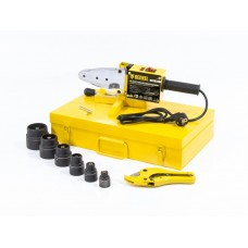 Аппарат для сварки пластиковых труб D WP-1500, 1500 Вт, 260-300 град, комплект насадок, 20-63 мм. DENZEL