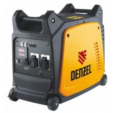 Генератор инверторный GT-3500i, X-Pro 3,5 кВт, 220 В, цифровое табло, бак 7,5 л, ручной старт DENZEL