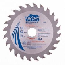Пильный диск по дереву 130 x 20/16 мм, 24 твердосплавных зуба. БАРС